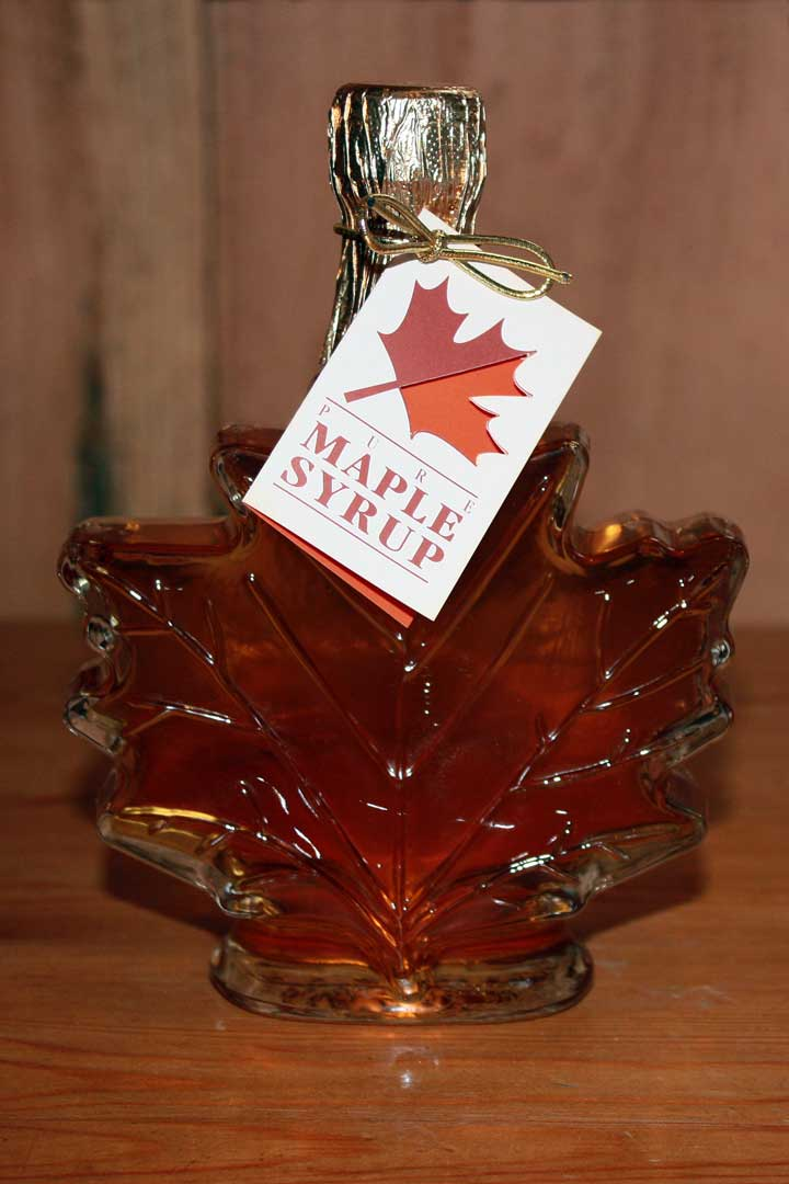 Maple Leaf Syrup Bottle